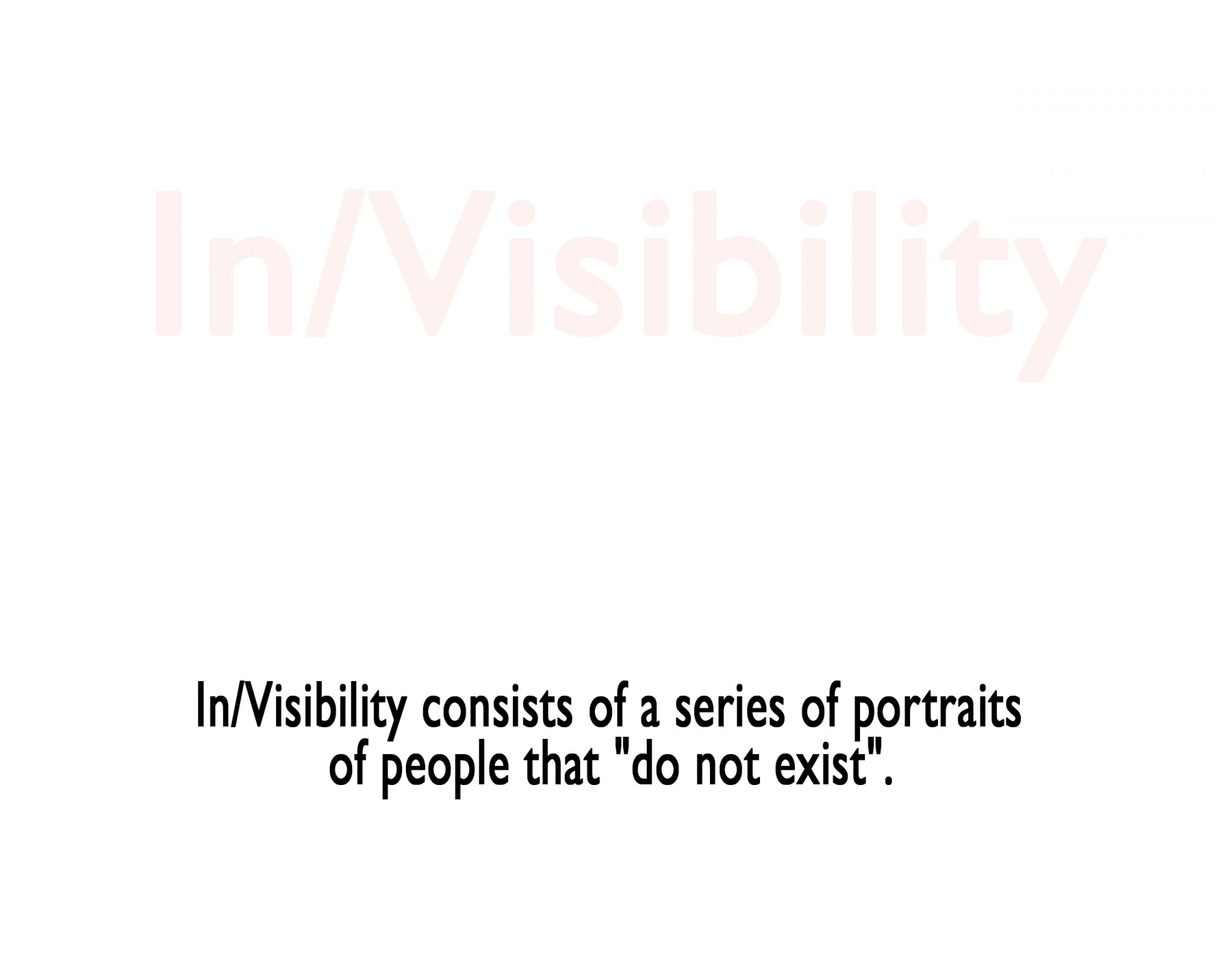 Patrick Gries In/Visibility   2010